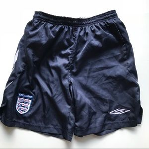 Umbro England Soccer Football Running Shorts Lined